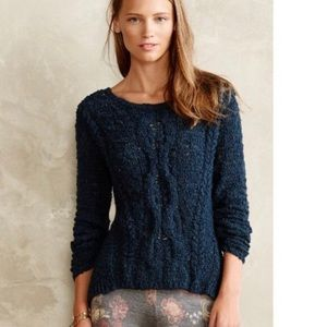 [Anthropologie] Moth Crossed Cable Knit Sweater